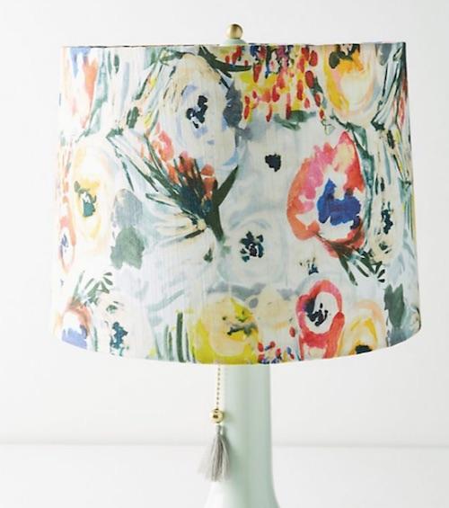 anthropologie lamp shade