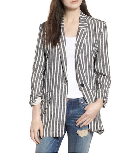 dark striped blazer