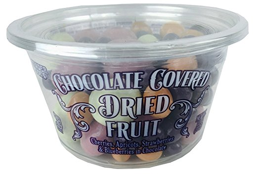 trader joe's chocolate covered dried fruit