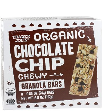 trader joe organic chocolate chip granola bars