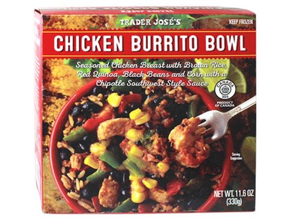 trader joes chicken burrito bowl