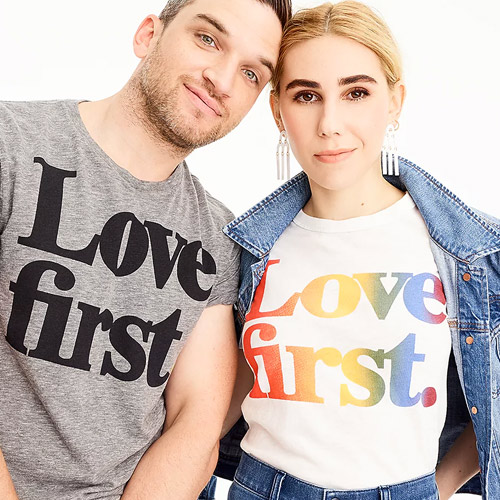 30d3b5f6d June 2018: J.Crew and Madewell have launched collabs with the Human Rights  Campaign (HRC) for Pride Month. 50% of the sale price of limited-edition  Love ...