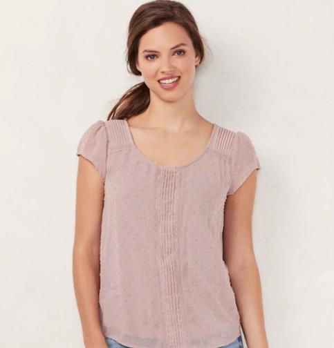 kohls spring blouse
