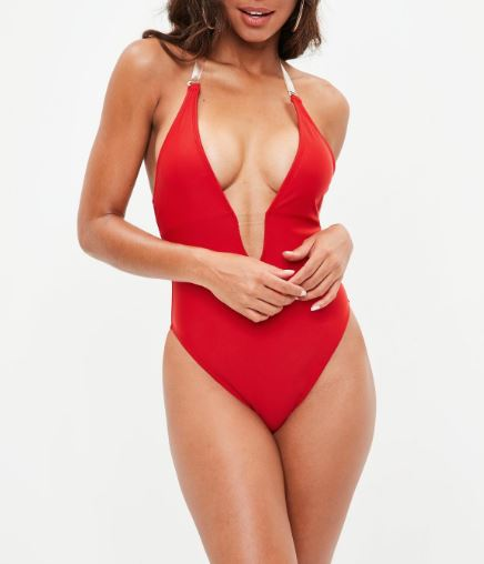 missguided clear bathing suit