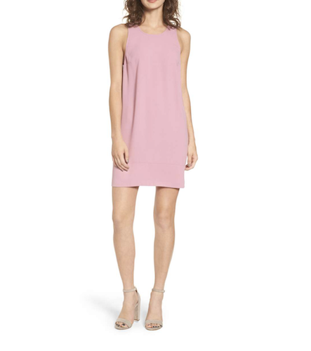 pink shift dress