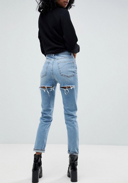 ripped butt jeans