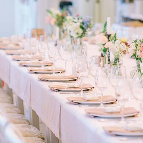 White wedding decor