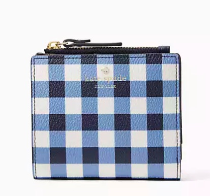 kate spade adalyn wallet gingham on sale