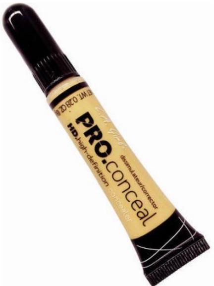 la girl pro concealer in yellow