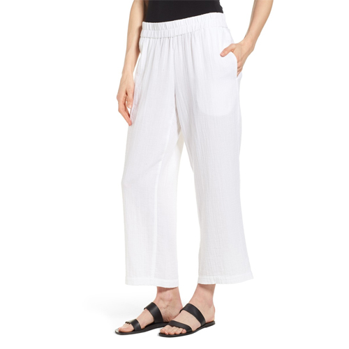 eileen fisher cotton pants