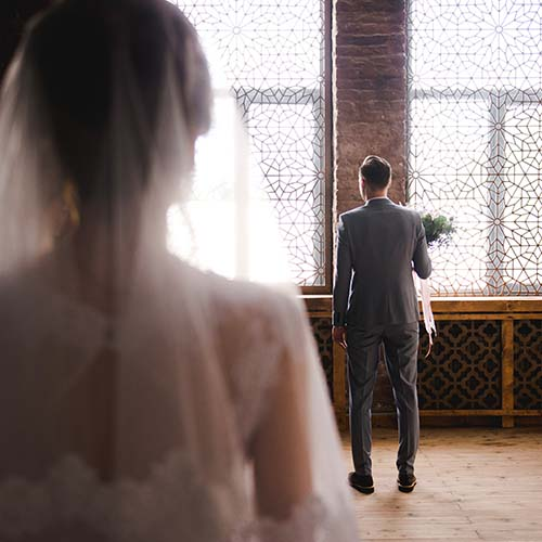 Groom Waiting at a Distance