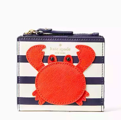 kate spade adalyn wallet crab on sale