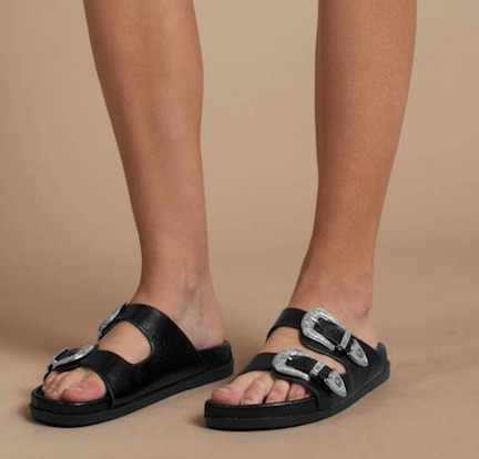 tobi naomie black buckle sandals
