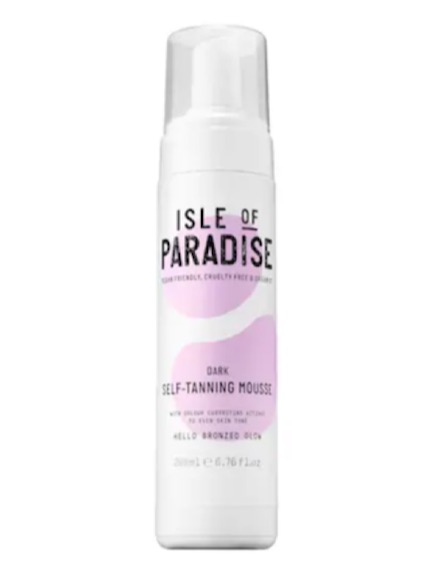 isle of paradise self-tanning mousse in dark