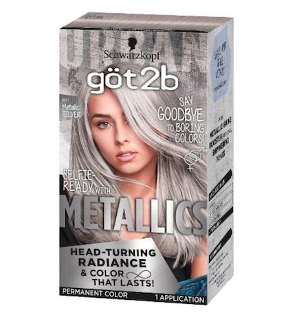 silver hair dye