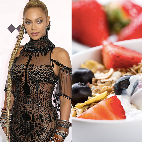 beyonce and cereal