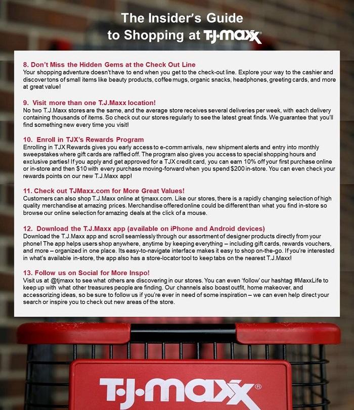 tj maxx shopping tricks