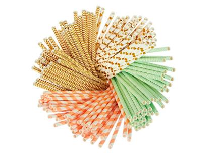 juvale paper straws