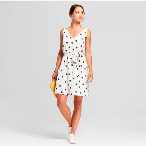 d84667266bb target dresses · A New Day Polka Dot Sleeveless Cotton Shift ...