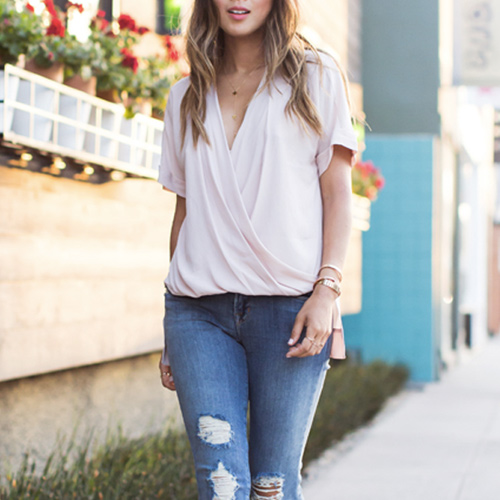 Psst! Order This Super Flattering Wrap Front Top While It's On Sale At Nordstrom Right Now