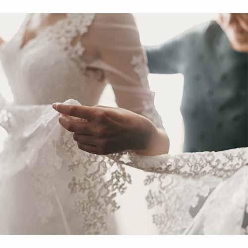 Bride in gown