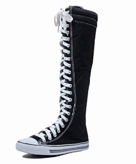 dw tall canvas lace-up sneakers