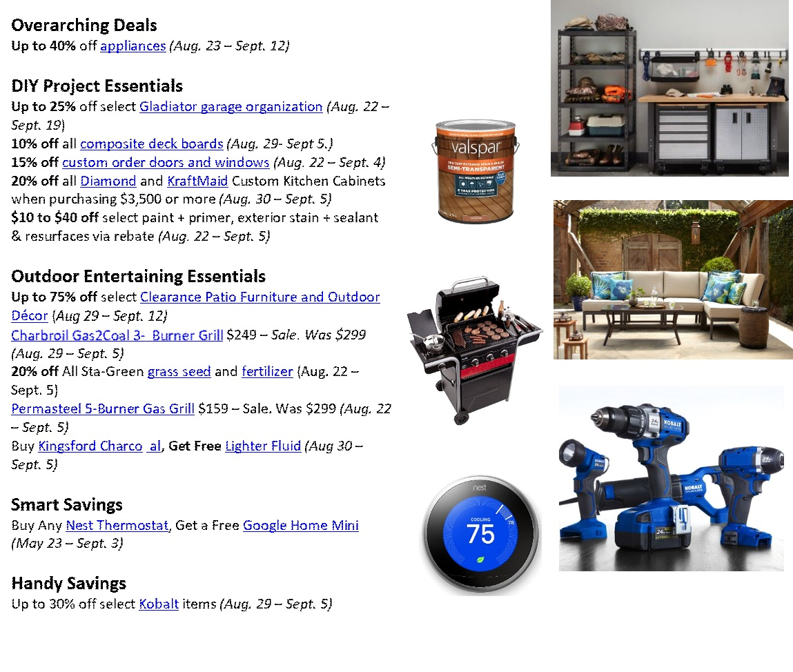 The Lowe S Labor Day Sale Is Going To Be So Good You Can Stock Up On Everything You Need For Your Home Shefinds This is due largely to the wide availability of the material and the ease of recycling aluminum. the lowe s labor day sale is going to