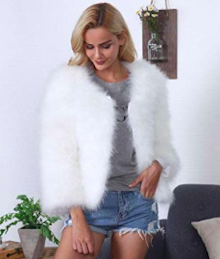 qingfan ostrich feather parka jacket