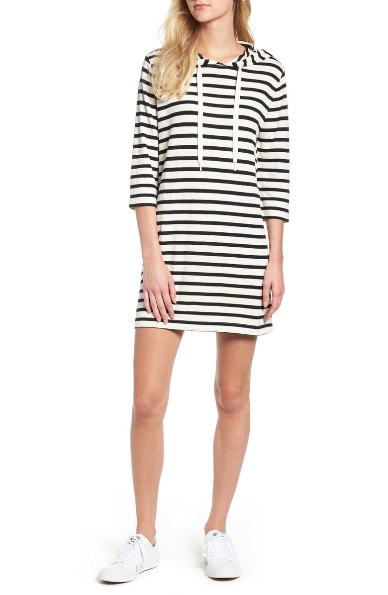 lou & grey striped hoodie dress