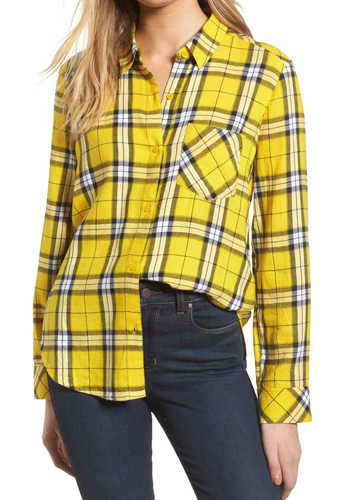 yellow plaid trend