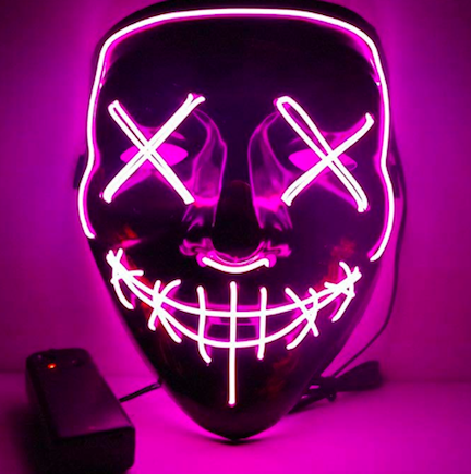 anroll led light-up purge mask