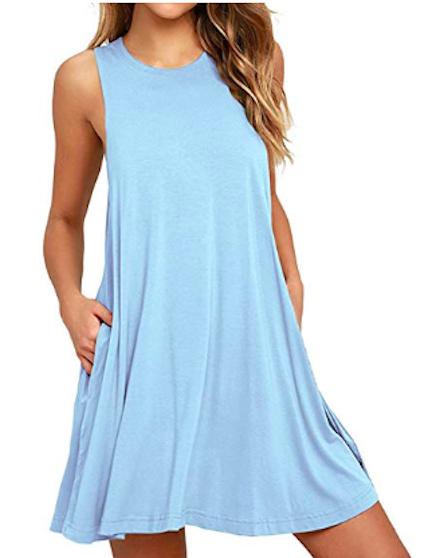 unbranded sleeveless t-shirt dress