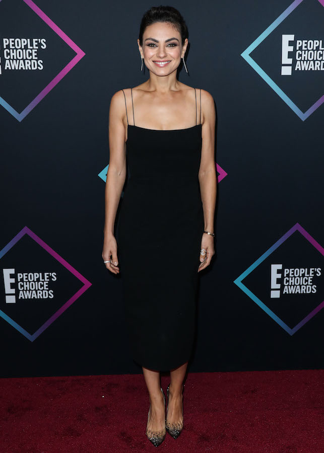 5794e7ba615 The 35-year-old mom of two looked absolutely stunning on the red carpet  wearing a skintight black slip dress from Australian fashion designer Alex  Perry