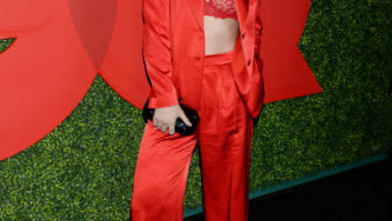 What Is Olivia Wilde Wearing? She Ditched Her Shirt On The Red Carpet For A Lacy Bra!