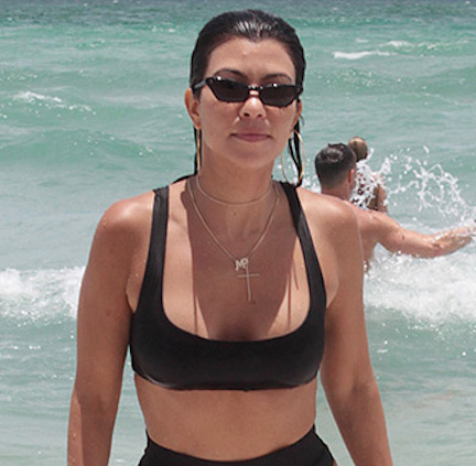 It's UNREAL How Hot Kourtney Kardashian Looks In This Bizarre String Bikini--See The Pics!