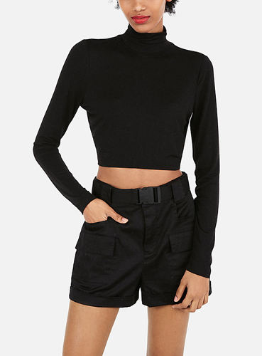 70dd96a9de6 Olivia Culpo High Waisted (Minus The) Leather Bermuda Shorts ( 69.90). shop  now · Olivia Culpo Cropped Mock Neck Tee ( 39.90)