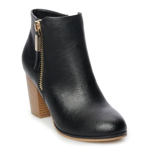 """d598b3d5449 Kohls shoppers gave the Apt. 9 Timezone Women s High Heel Ankle Boots a  rating of 4.5 out of 5 stars and said they were """"great quality"""" and """"super  ..."""