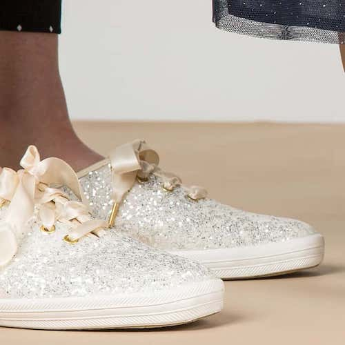Psst! The Cult Keds x Kate Spade Glitter Sneakers Just Went On Sale