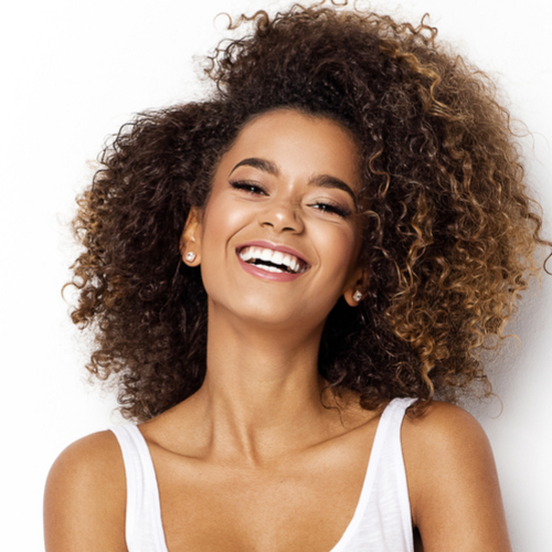 woman with nice skin smiling