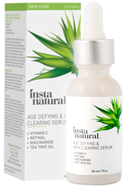 instanatural age defying and skin clearing serum