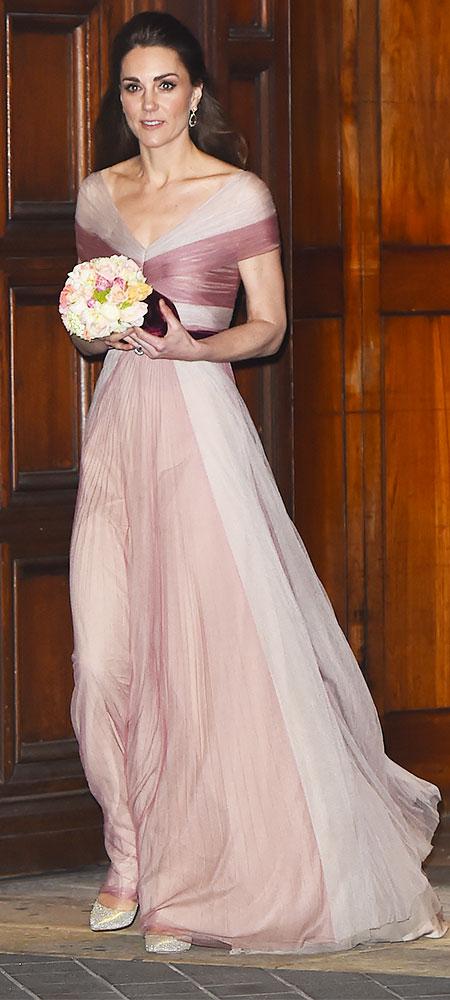 kate middleton pink gucci dress