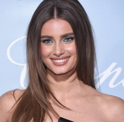 We're Surprised Taylor Hill Didn't Have A Major Wardrobe Malfunction In This Tiny Top—It Barely Covers Her Chest!