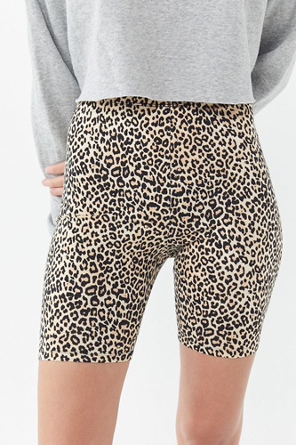 Motel Leopard Print Bike Shorts