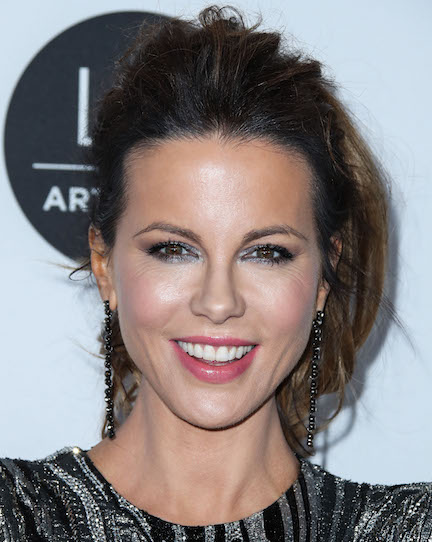 We Can't Believe Kate Beckinsale Wore This Completely Sheer Dress On TV--She Almost Flashed The Camera!