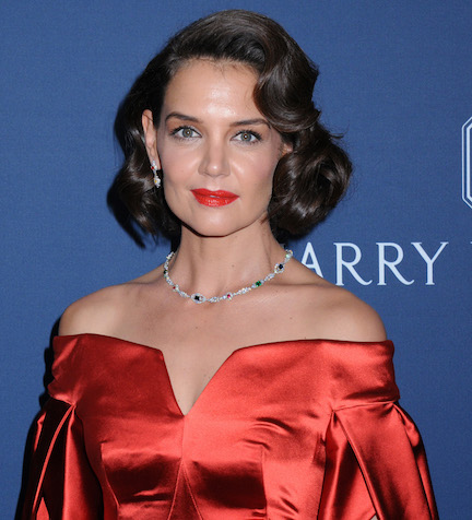 This High-Slit Leather Skirt Might Be The Sexiest Thing Katie Holmes Has Ever Worn—Like, EVER!