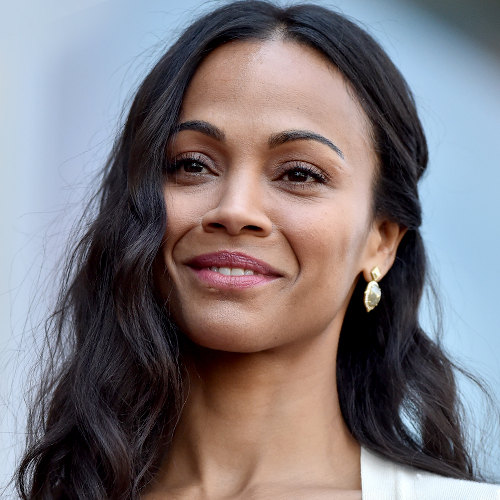 We've Never Seen Zoe Saldana Wear Something THIS Low-Cut Before—This Dress Shows Everything!