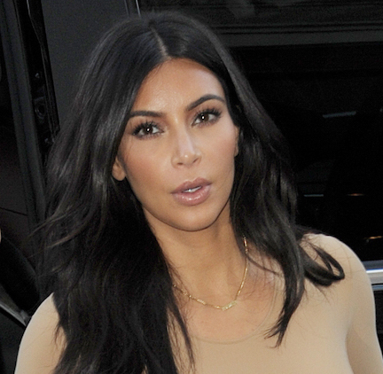 You Call This An Outfit?! Kim Kardashian's Boobs Are Spilling Out Of This Tiny Tank Top