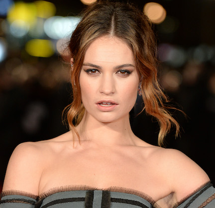 Lily James Turned Heads In This Low-Cut Dress On The Red Carpet—Did We Mention It Was COMPLETELY Sheer?