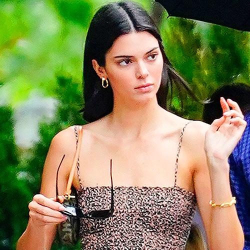 We're Surprised Kendall Jenner Didn't Have A Wardrobe Malfunction In This Super Short Dress—She's About To Flash The Camera!