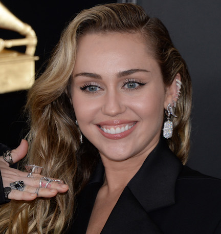 Miley Cyrus Is Getting SO Many Likes For Wearing This Silver Dress On Instagram--Did We Mention It's COMPLETELY See-Through?